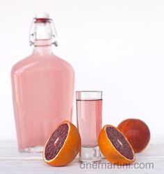 Blood orange vanilla infused rum