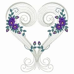 Rippled Floral Hearts 1 - 3 Sizes! | Floral - Flowers | Machine Embroidery Designs | SWAKembroidery.com Ace Points Embroidery