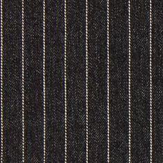Jeansstof naaldstrepen – zwart