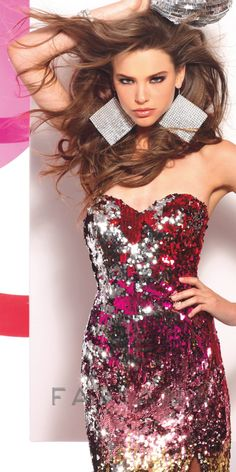 Faviana 7106 Sequin Dress - $418