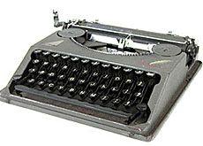 Schribmaschine Hermes Baby, 1935