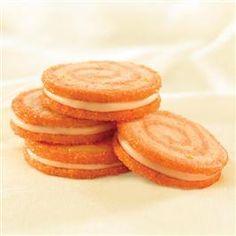 Orange Twist Pinwheel Sandwich Cookies
