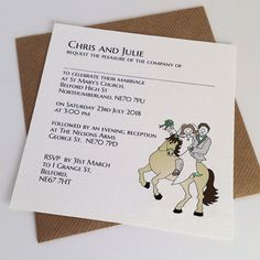 129 Best Horse And Equestrian Wedding Stationery Images Beautiful