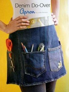Best recycled denim apron ever!