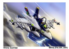 """Après le mythique Tomcat, il était logique d'enchainer sur son remplaçant... le F/A-18F Super Hornet, surnommé """"Rhino"""" par le personnel de L'US Navy Voilà bien un exemple type de choix étrange que celui ci... représenter un avion que je n'apprécie pas..."""