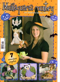 - Marcia M - Álbuns da web do Picasa Book Crafts, Hobbies And Crafts, Felt Crafts, Holidays Halloween, Halloween Crafts, Christmas Holidays, Sewing Magazines, Magazine Crafts, Painted Books