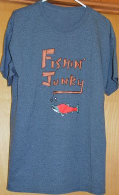 Get your fishing on in this one of a kind Fishin Junky T-shirt! You can get one for the whole family. Order now from shop.willowbilliesofalaska.com #alaska #fishing #hunting #greatoutdoors #alaskan #willowbillies  Gildan® Ultra Cotton 50% Cotton/50% Polyester Unisex sizes, Preshrunk Designed and Printed in Alaska Mens sizing is true to actual size Women should order a size smaller