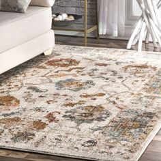 Copper Grove Gradacac Vintage Floral Ombre Border Area Rug x Beige Floral Area Rugs, Beige Area Rugs, Construction, Area Rug Sizes, Rugs Usa, Round Rugs, Online Home Decor Stores, Online Shopping, Vintage Floral