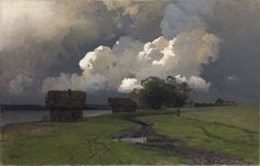 russian-painting:  Isaac Ilyich Levitan - In the vicinity of the Savvino-Storozhevsky monastery, 1880s.