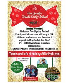 Dec 2-Columbia County's Christmas Tree Lighting Festival – Evans Towne Center Park