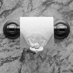 """""""Water Lily"""" instructions in """"Toilet Paper Origami on a Roll: Decorative Folds and Flourishes for Over-the-Top Hospitality"""" by Linda Wright ♦ http://www.amazon.com/dp/0980092337/"""