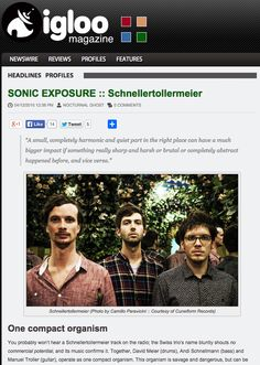 Here's a brand new in-depth interview with Schnellertollermeier @igloomag! Check it out now: http://igloomag.com/profiles/sonic-exposure-schnellertollermeier