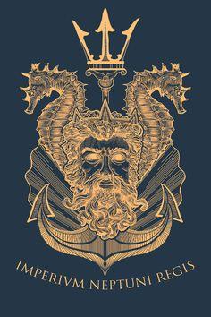 Artist is Matthew Trupia. The Latin says Imperium Neptuni Regis or Empire of Kin… Artist is Matthew Trupia. The Latin says Imperium Neptuni Regis or Empire of King Neptune in English. Marine Tattoos, Navy Tattoos, Tattoos For Guys, Arabic Tattoos, Octopus Tattoo Sleeve, Sleeve Tattoos, 1 Tattoo, Chest Tattoo, Shellback Tattoo