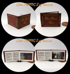ONCE UPON A Time Book Of Fairy Tales Miniature Book Dollhouse 1:12 Scale Book by LittleTHINGSinterest on Etsy