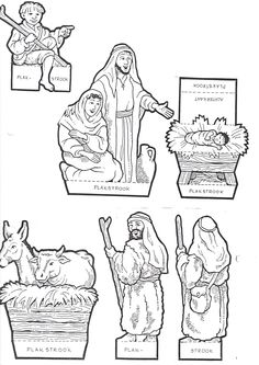 Bible Coloring Pages, Birth Of Jesus, Bible Activities, Advent, Bible Crafts, Holy Night, Bible Stories, Christmas Projects, Sunday School
