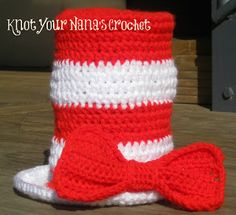 Cat in the Hat Bow Tie and Top Hat-free pattern size 6-12 months