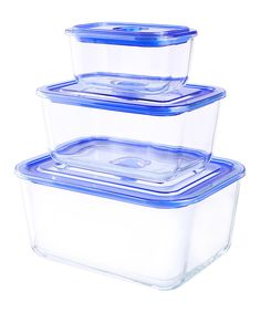 Look at this Rectangle Glasslock Premier Container Set on #zulily today!