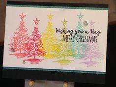 Christmas Card - Stamps:  Tim Holtz Scribbly Christmas, Simon Says Stamp Inside Holiday Greetings - Inks:  Stampin' Up Flirty Flamingo, Stampin' Up Regal Rose, Hero Arts Lemon Yellow, Memento Pear Tart, Hero Arts Tide Pool, Memento Lulu Lavender, Versafine Onyx Black - Ranger Clear Embossing Powder - Pretty Pink Posh Sparkling Clear Sequins - Inspiration:  http://cheironbrandon.typepad.com/my_weblog/2014/09/hero-arts-handmade-for-christmas-blog-hop.html