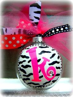 DIY Ornaments. This is one is so cute!
