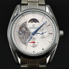 36.35$  Watch here - http://aliota.shopchina.info/1/go.php?t=1964232572 - Goer Watch Men Tourbillon Automatic Mechanical Wrist Watches For Men Full Steel Chronograph Watches Moon Phase Relogio Masculino  #magazineonline