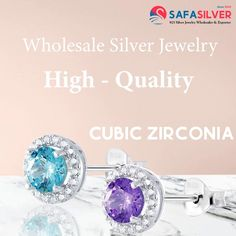 Buy these gorgeous cubic zirconia ear studs from Safasilver.com. We offer a stunning collection of CZ stud earrings wholesale at low prices with discounts. #silver #jewely #stud #earrings #cz #cubic #zirconia #jewelryoftheday #love #jewelrymaking #jewelrylover #uniquejewelry #puresilver #silverlove Wholesale Silver Jewelry, Jewelry Design, Unique Jewelry, Ear Studs, Stud Earrings, Engagement Rings, Collection, Enagement Rings, Wedding Rings