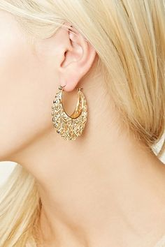 Ornate Filigree Hoop Earrings