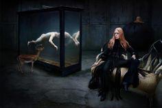 Model: Tatiana Urina  Designer: Alexander McQueen  Photographer: STEVEN KLEIN