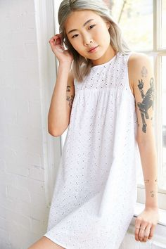 Kimchi Blue Eyelet Trapeze Dress - Urban Outfitters
