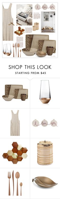"""Evasive Delights"" by nonniekiss ❤ liked on Polyvore featuring interior, interiors, interior design, home, home decor, interior decorating, Sango, Wedgwood, Toast and Cutipol"