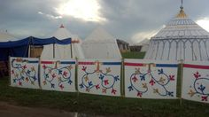 Camp walls info.>>Muriel's new household's 14th c. encampment @ Pennsic 2013.