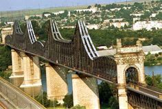 Cernavoda bridge - Danube river, Romania -the bridge was designed in the century by Anghel Saligny Bulgaria, Budapest, Places Around The World, Around The Worlds, European River Cruises, Historia Natural, Places Worth Visiting, Danube River, Tourist Places