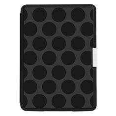 Oversize Black Dot Pattern Kindle Paperwhite Leath by artandornament