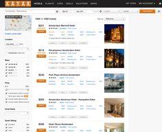 kayak.com search filter, left rail. Design System, Ux Design, Faceted Search, Flight And Car, Ui Web, Marriott Hotels, Find Hotels, Mobile Design, Sorting