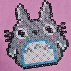 totoro  ...wonder if this would work as a knitting chart....