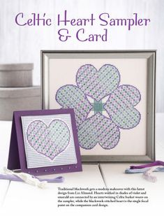 Just CrossStitch is the first magazine devoted exclusively to counted cross stitch and the only cross-stitch title written for the intermediate to advanced-leve Celtic Cross Stitch, Just Cross Stitch, Celtic Heart, Cross Stitching, Blackwork, Basket Weaving, Cross Stitch Patterns, Crossstitch, Frame