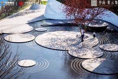 Landscape Elements, Contemporary Landscape, Urban Landscape, Landscape Art, Water Architecture, Landscape Architecture Design, Paving Pattern, Public Space Design, Modern Landscaping