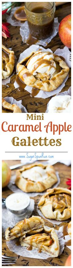 Elegantly simple and beautifully rustic, these mini caramel apple galettes are the perfectly petite alternative to a typical apple pie. Fruit Recipes, Apple Recipes, Fall Recipes, Dessert Recipes, Party Recipes, Mini Desserts, Easy Desserts, Delicious Desserts, Yummy Food