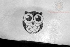 Beautiful Tiny Owl Tattoo behind the ear - Julie here is a cute small owl tattoo!!