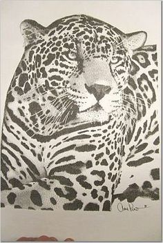 Cat by Anne Marie Price #pointillism #AMP #ampriceart www.ampriceart.com #cat #CA LA Ink Pen Art, Wood Stain, Scroll Saw Patterns, Pointillism, Create Image, African Prints, Big Cats, Wood Burning, Gold Leaf