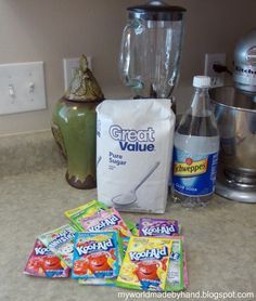My World - Made By Hand: SLURPEES using Kool-Aid {recipe}