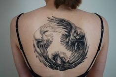 My first tattoo! Crow, owl, dove by Mauritz @ house of tattoos Amsterdam : tattoos