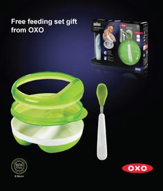 Free OXO feeding pack with Braun Thermometer