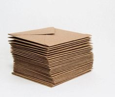 Shop for envelopes on Etsy, the place to express your creativity through the buying and selling of handmade and vintage goods. Washi, Tree Company, Card Envelopes, Natural Brown, Wedding Stationary, Green Wedding, Recycling, Etsy, Black And White