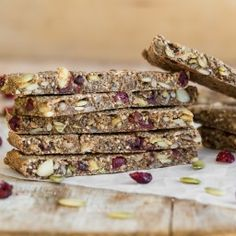 Soft & Chewy Granola Bars (made with dried fruit and seeds).  I added 1/3 cup sugar, and no salt to the recipe