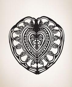 Vinyl Wall Decal Sticker Heart Design #OS_MB247