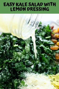 Tangy, crunchy, full of incredible lemon flavor mixed with the amazing superfood KALE! This recipe is the best one you will find for Kale salad.PRINT