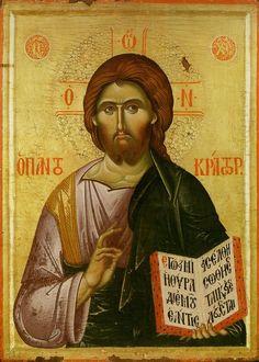 Byzantine Icons, Byzantine Art, Religious Icons, Religious Art, Monastery Icons, Christ Pantocrator, Roman Church, Religious Paintings, Jesus Cristo