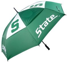 """Michigan State Spartans 62"""" Golf Umbrella - NCAA College Athletics by SunTime. $31.82. 62"""" Golf Umbrella that shows your team pride out on the golf course with our exclusive design. Windproof design with four areas of team logo application.. Save 36% Off!"""