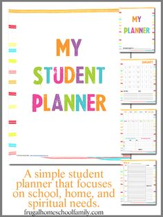 FREE Student Planners {7 Themes to Choose From} - Frugal Homeschool Family