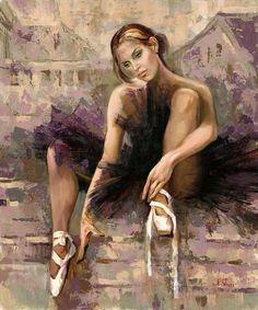 Kai Fine Art is an art website, shows painting and illustration works all over the world. Art Ballet, Ballet Painting, Painting & Drawing, Ballet Dancers, Ballerina Kunst, Dance Art, Art Design, Love Art, Female Art